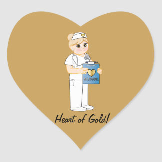 Nurse with Heart of Gold Sticker