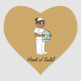 Nurse with Heart of Gold Stickers