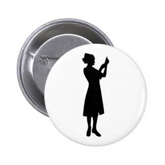 Nurse woman button
