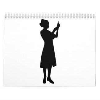 Nurse woman calendar