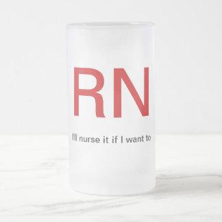 Nurse your beer frosted glass beer mug