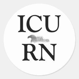Nurseguardianlogo, ICURN Pegatina Redonda