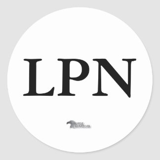 nurseguardianlogo, LPN Pegatina Redonda