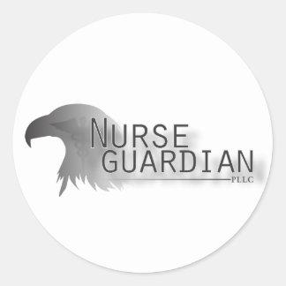 Nurseguardianlogo Pegatina Redonda