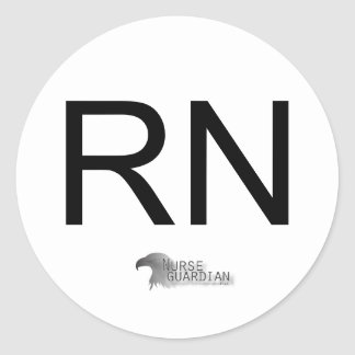 Nurseguardianlogo, RN Pegatina Redonda