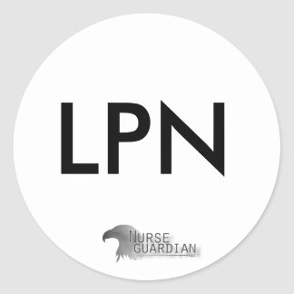 Nurseguardianlogo Classic Round Sticker