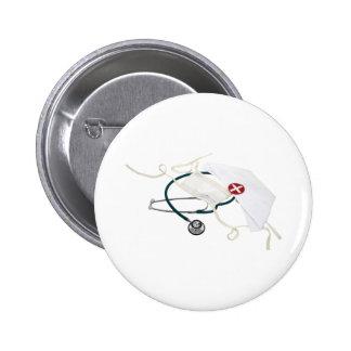 NurseHatMask082309 2 Inch Round Button