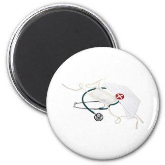 NurseHatMask082309 2 Inch Round Magnet