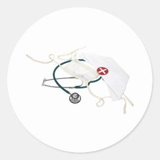 NurseHatMask082309 Classic Round Sticker