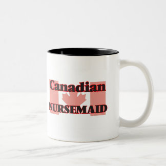 Nursemaid canadiense taza de dos tonos