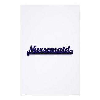 Nursemaid Classic Job Design Stationery