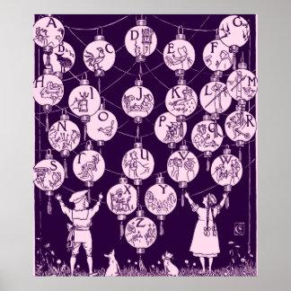 Nursery Alphabet Lanterns Poster