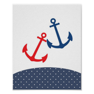 Nursery anchor illustration for nautical themes posters