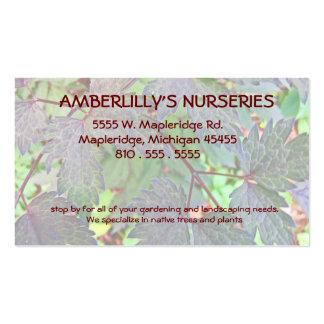Nursery and Gardening supply Business Card