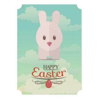 Nursery Art Cute Animal Decor Bunny Illustration 5x7 Paper Invitation Card