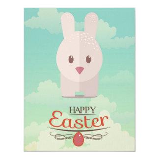 Nursery Art Cute Animal Decor Bunny Illustration 4.25x5.5 Paper Invitation Card