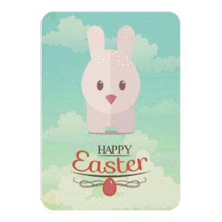 Nursery Art Cute Animal Decor Bunny Illustration 3.5x5 Paper Invitation Card