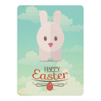 Nursery Art Cute Animal Decor Bunny Illustration 5.5x7.5 Paper Invitation Card