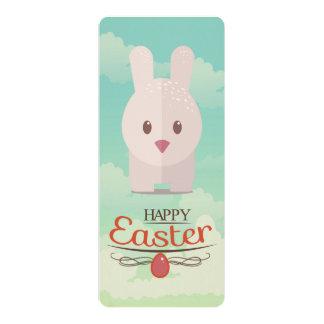 Nursery Art Cute Animal Decor Bunny Illustration 4x9.25 Paper Invitation Card