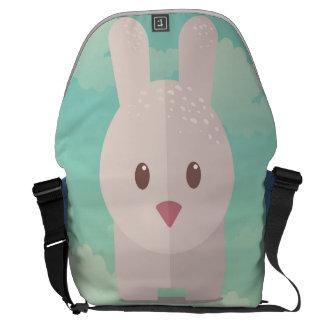 Nursery Art Cute Animal Decor Bunny Illustration Messenger Bag