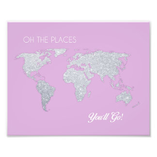 Nursery Art Oh the Places You'll Go Artwork Photo Print