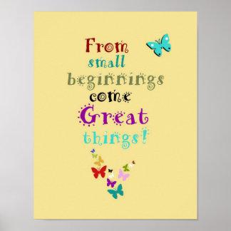 Nursery Art Poster Small Beginnings