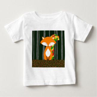 Nursery Automn Fox Design Baby T-Shirt