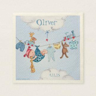 Nursery Baby clothesline Birth Boy Paper Napkins