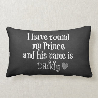 Nursery Baby Quote: Daughter and Daddy Lumbar Pillow