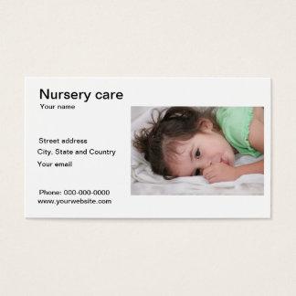 Nursery care business card