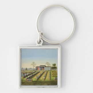 Nursery Garden, c.1820-40 (w/c on paper) Keychain