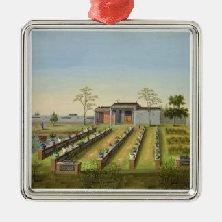 Nursery Garden, c.1820-40 (w/c on paper) Metal Ornament
