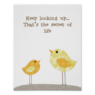 Nursery kids room wall art (keep looking up)