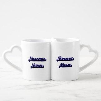 Nursery Nurse Classic Job Design Couples' Coffee Mug Set