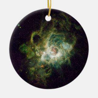 Nursery of stars in a spiral galaxy ceramic ornament