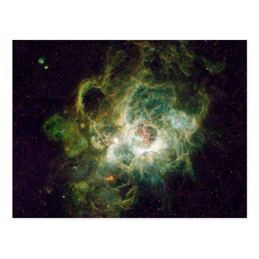 Nursery of stars in a spiral galaxy postcards