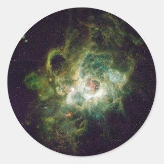 Nursery of stars in a spiral galaxy round sticker