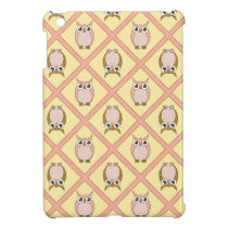 Nursery Owls iPad Mini Case - Pink