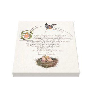 Nursery Poem by Lewis Carroll Canvas Print