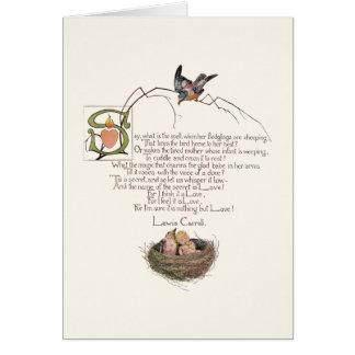 Nursery Poem by Lewis Carroll Card