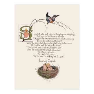 Nursery Poem by Lewis Carroll Postcard