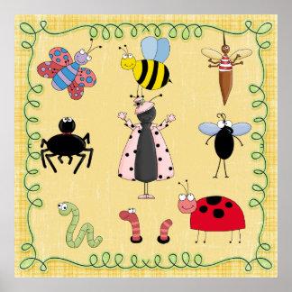 Nursery Poster Bugs