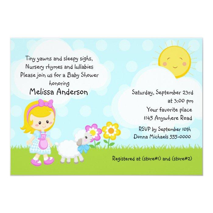 nursery rhyme baby shower card zazzle