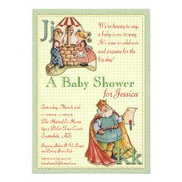 Nursery rhyme baby shower invitations announcements zazzle nursery rhyme baby shower invitation filmwisefo Images