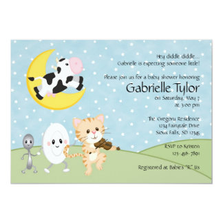 Nursery Rhyme Baby Shower Invitations