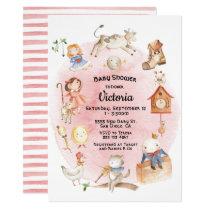 Nursery Rhyme baby shower invitations