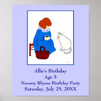 Nursery Rhyme Birthday Party Poster