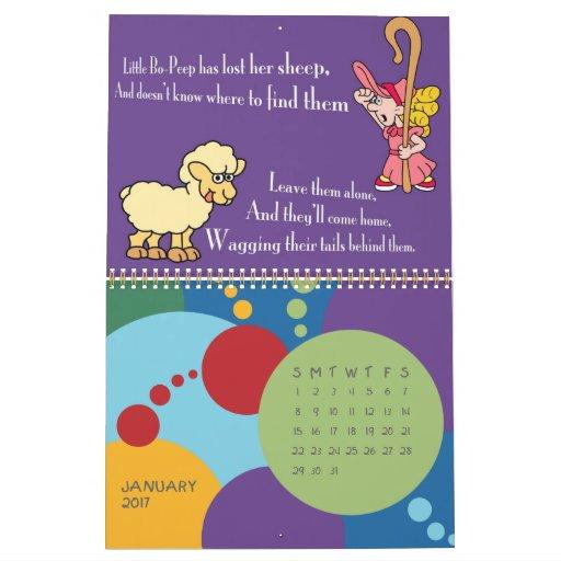 Monthly Calendar Rhyme : Nursery rhyme calendar zazzle