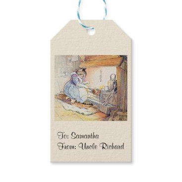Wedding Themed Nursery Rhyme Cat Personalized Gift Tags