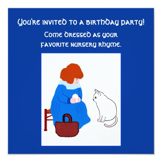 Nursery Rhyme Costume Birthday Party Card
